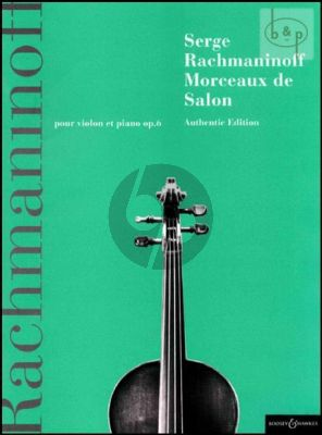 Morceaux de Salon Op.6 Violin and Piano