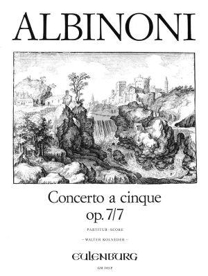 Albinoni Concerto A-dur Op. 7 / 7 Streichorchester (Partitur) (Walter Kolneder)