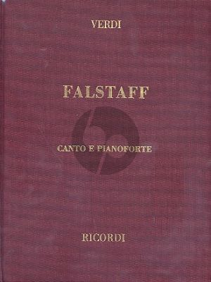 Verdi Falstaff Vocal Score (engl./it.) (Hardcover)