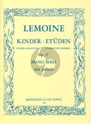 Lemoine Kinder Etuden Op.37 (Etudes Enfantines-Studies for Children) (Ber Joosen)