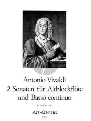 Vivaldi 2 Sonaten aus 'Il Pastor Fido' Op.13 No.2 und 6 Altblockflöte[Flöte/Violine/Oboe]-Bc (Continuo Aussetzung Willy Hess)