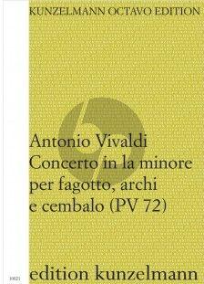 Vivaldi Konzert a-moll RV 497 (PV 72) Fagott-Streicher-Bc Partitur