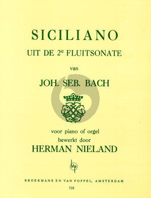 Bach Siciliano from Flute Sonata No.2 Piano Solo