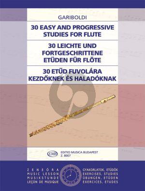 Gariboldi 30 Easy and Progressive Studies for Flute