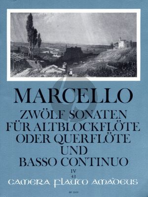 Marcello 12 Sonaten Op.2 Vol.4 (No.10 - 12) Treble Recorder[Flute] and Bc (Willy Hess) (Amadeus)