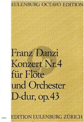 Danzi Konzert No. 4 D-Dur Op. 43 Flöte-Orchester (Partitur) (Dieter H. Förster)