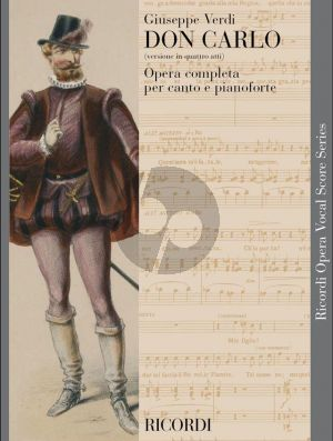 Verdi Don Carlo (4 Acts) Vocal Score (it.)