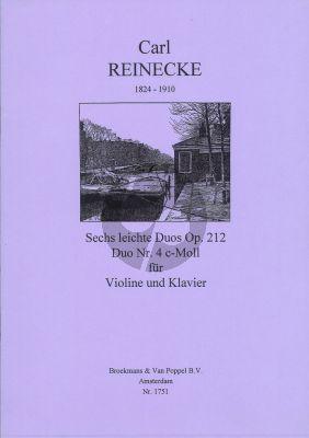 Reinecke 6 Leichte Duos Op.212 No.4 C-Minor Violine - Klavier