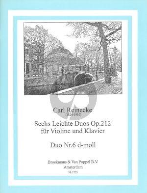 Reinecke 6 Leichte Duos Op.212 No.6 D-Minor Violine - Klavier