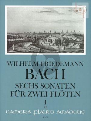 Bach 6 Sonaten (Duette) Vol.1 (No.1 - 3) 2 Flöten (Parts) (edited by Oskar Peter)