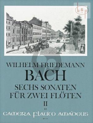 Bach 6 Sonaten (Duette) Vol.2 (No.4 - 6) 2 Flöten (Parts) (Oskar Peter)