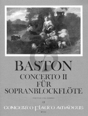 Baston Concerto No.2 C-dur (Sopranblockfote-2 Vi-Va-Bc) (Part./Stimmen)