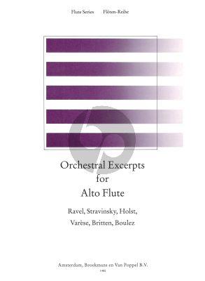 Orchestral Excerpts for Alto Flute (De Reede) (Boulez-Britten-Holst-Ravel-Strawinsky-Varese)