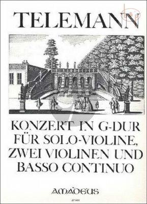 Concerto G-major TWV 51:G7 (Violin Solo- 2 Vi.[tutti]-Bc) (Score/Parts)