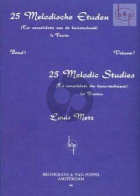 25 Melodic Studies Vol.1 Viool