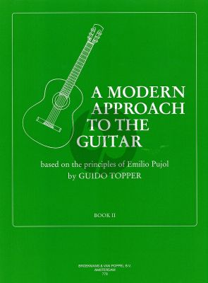 Topper Modern Approach to the Guitar Vol.2 (Based on the Principles of Emilio Pujol)