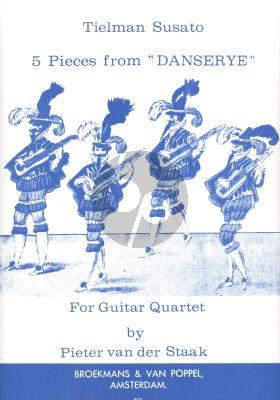 Susato 5 Easy Guitar-Quartets from Tielman Susato's Danserye (transcr. Pieter van der Staak)