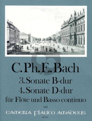 Bach Sonate No.3 B-dur (WQ 125) - Sonate No.4 D-dur (WQ126) Flöte-Bc (Manfredo Zimmermann)