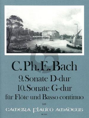 Bach Sonate No.9 D-dur WQ 131 - Sonate No.10 G-dur WQ 134 Flöte-Bc (Manfredo Zimmermann)