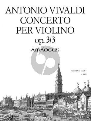 Vivaldi Konzert G-dur RV 310 (Op.3 No.3) Violine-Streicher-Bc Partitur (Felix Forrer)