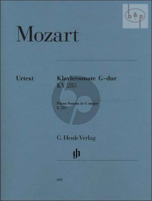 Sonate G-dur KV 283[189h] (edited by Ernst Herttrich)
