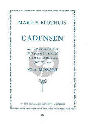 Flothuis Cadenzas Mozart Fluteconcertos KV 313 / 314 - 315