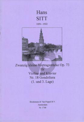 Sitt 20 Kleine Vortragsstucke Op.73 No.18: Gondoliera Violine - Klavier