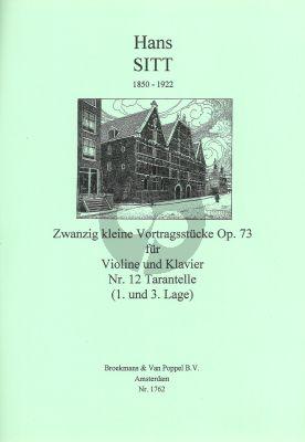 Sitt 20 Kleine Vortragsstucke Op.73 No.12: Tarantelle Violine - Klavier