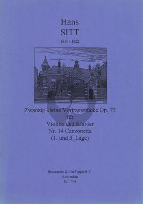 Sitt 20 Kleine Vortragsstucke Op.73 No.14: Canzonetta Violine - Klavier