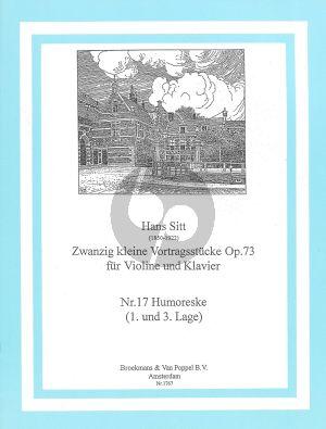 Sitt 20 Kleine Vortragsstucke Op.73 No.17: Humoresque Violine - Klavier