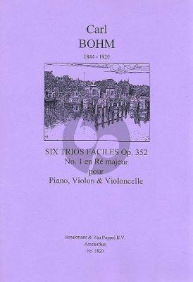 Bohm 6 Easy Trios Op.352 No.1 D-major Violin-Violoncello-Piano