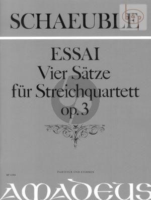Essai (4 Satze) Op.3