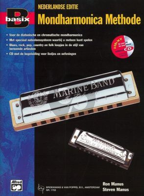 Manus Basix Harmonica Methode (Bk-Cd) (Nederlandse Uitgave)
