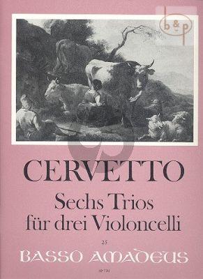 Cervetto 6 Trios 3 Violoncellos (Parts) (edited by Bernhard Pauler)