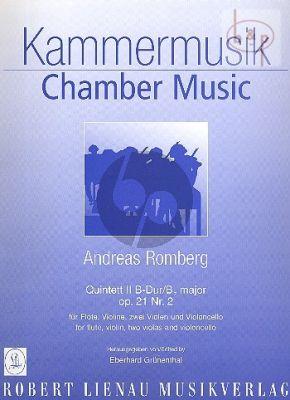 Quintett B-dur Op.21 No.2 (Flöte-Violine- 2 Violas-Violoncello)