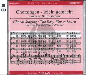 Messias HWV 56 (CD Sopran Chorstimme) (2 CD's) (Chorsingen leicht gemacht)