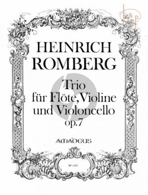 Trio Op.7 (Intermezzo Concertant) (Flute- Violin-Violoncello)