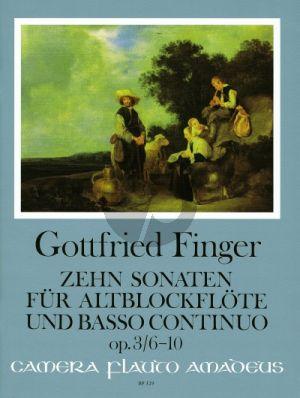 Finger 10 Sonaten Op. 3 Vol. 2 No. 6 - 10 Altblockflöte (Flöte / Oboe) und Bc (Bernhard Pauler und Christine Gevert)