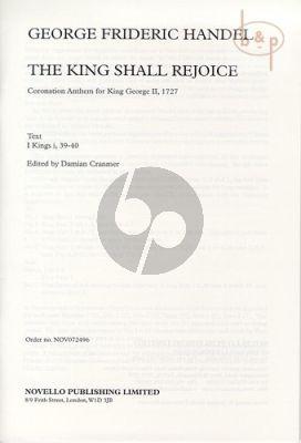 The King Shall Rejoice (Coronation Anthem for King George II (SATB[SAATBB]-Piano)