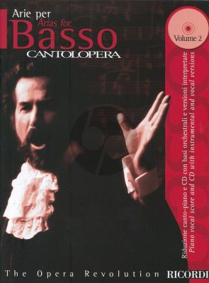 Arias for Bass Vol.2 (Serie Cantolopera) (Book + Cd with Instrumental and Vocal Versions)