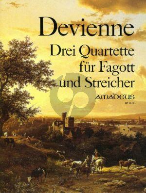 Devienne 3 Quartette Op.73 Fagott-Vi.-Va.-Vc. (Stimmen) (Fassung vom Komponisten) (Bernhard Pauler)