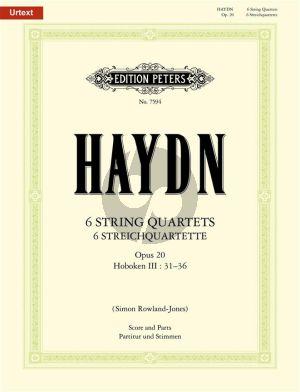 Haydn 6 String Quartets Op.20 Hob.III:31 - 36 (Urtext) (Score/Parts) (Simon Rowland-Jones)