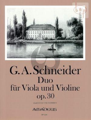 Duo Op.30 (Violin-Viola)
