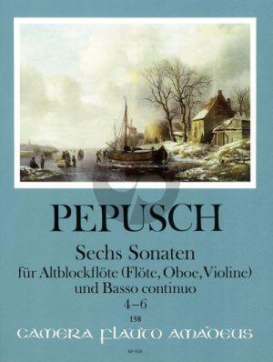 Pepusch 6 Sonaten Vol.2 (Nos.4-6) Altblockflöte (Flöte/Oboe/Violine)-Bc (Harry Joelson)