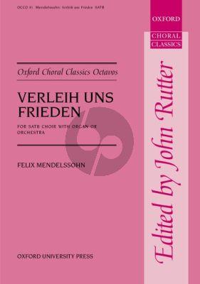 Mendelssohn Verleih uns Frieden Gnadiglich SATB-Organ (edited by John Rutter) (German/English)