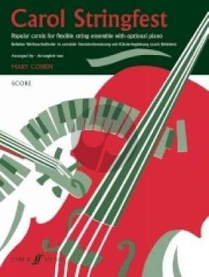 Cohen Carol Stringfest (Popular Carols Flexible String Ensemble with Optional Piano) (Score/Parts) (grade 2 - 3)