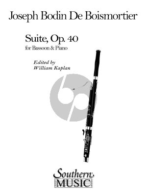 Boismortier Suite Op. 40 Bassoon and Piano (edited by William Kaplan)