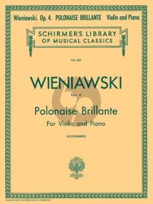 Wieniawski Polonaise Brillante Op. 4 Violin and Piano (edited by Leopold Lichtenberg)
