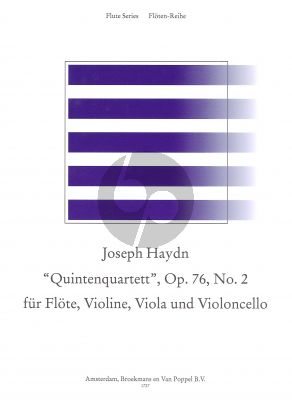 Haydn Quartet d-minor Op.76 No.2 'Quintenquartett' Flute-Violin-Viola-Violoncello (Parts) (edited by Rien de Reede)