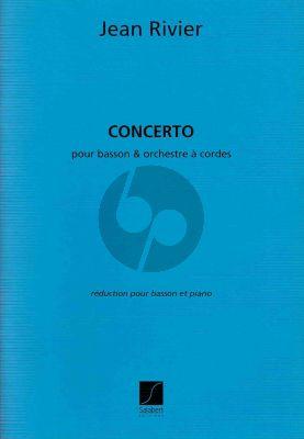 Rivier Concert pour Basson et Piano